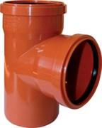 Тройник 160x160мм 90 градусов, для наружной канализации, полипропиленовый, оранжевый
