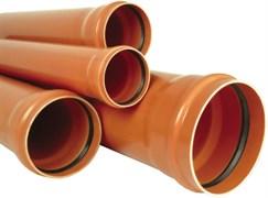 Труба канализационная 160x4.9x500мм, наружная, полипропиленовая, оранжевая