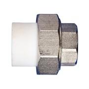 Муфта разъемная PPRC с ВР 32x20мм (3/4 дюйма), комбинированная, полипропиленовая, с внутренней резьбой