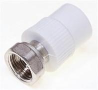Муфта разъемная PPRC 20x20мм (3/4 дюйма), комбинированная, с накидной гайкой, полипропиленовая, с внутренней резьбой