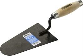 Кельма/мастерок каменщика Сибин, 105x175мм, форма закругленная трапеция, деревянная ручка, КК