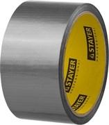 Лента клейкая (скотч) STAYER Профи, 50ммx25м, армированная, на тканевой основе, универсальная, серебристая