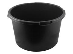 Таз строительный 90л, пластиковый, круглый, черный