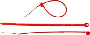 Хомут/стяжка ЗУБР универсальный, тип 7, 3.6x200мм, нейлоновый, красный, упаковка 100шт