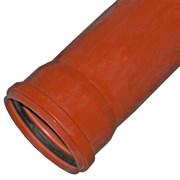 Труба канализационная 110x500мм, наружная, НПВХ, оранжевая