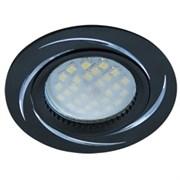 Светильник встраиваемый Ecola DL3181 MR16 GU5.3, 23x78мм, литой, матовый, черный, алюм Вихрь, FB1607EFF