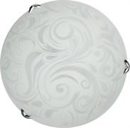 Светильник настенно-потолочный Дюна, диаметр 380мм, 3х60W, иней белый