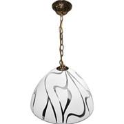 Светильник подвесной Крокус, Зигзаг, большой, белый, прозрачный, цепь
