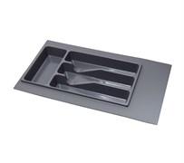 Лоток для столовых приборов 300-350мм, серый