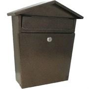 Ящик почтовый ДОМИК VIP, с замком, медь, с замком