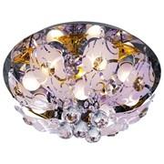 Люстра подвесная 4160/9CR+BRN RC RBPLED, диаметр 380мм, 9x40W, хром/коричневый, с LED подсветкой