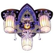 Люстра подвесная 8282/3+1BK+CR RC MIXLED, диаметр 450мм, 3x40W и 1x3W, хром черный и белый, с LED подсветкой