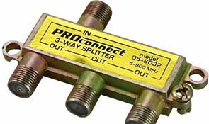 Разветвитель-сплиттер Rexant 05-6032 на 3TV, 5-900MHz, Proconnect, для эфирного телевидения, желтый