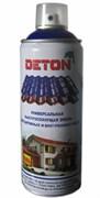 Краска-эмаль Аэрозоль DETON, акриловая, RAL9005 Черный, матовый, 520мл