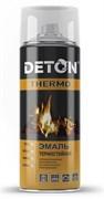 Краска-эмаль термостойкая DETON, алкидная, серебристая, 520мл