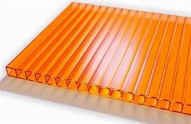 Сотовый поликарбонат 4x2100x12000мм, оранжевый, на метраж