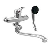 Смеситель в ванную 47008 САТУРН, шаровый, однорычажный, длинный нос (излив)