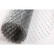 Сетка штукатурная, цельно-просечно-вытяжная сварная ЦПВС, 15x1.5x0.5мм, 1x5м (5м2), оцинкованная