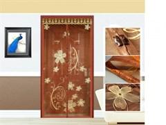 Штора/сетка Dekotex IMAGE ANT.01.03/TJ01-BR, москитная на дверь, 100x210см, на магнитах, коричневый BROWN