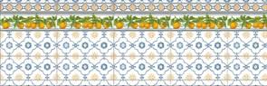 Фартук кухонный Лимончелло, 3000х600х1.5мм, пластик АВС, термопечать