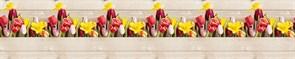 Фартук кухонный Романтика, 3000х600х1.5мм, пластик АВС, термопечать