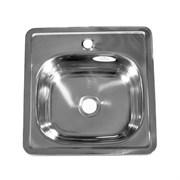 Мойка кухонная врезная FABIA 4848, 480x480x160мм, под маленький сифон, без сифона, нержавеющая сталь