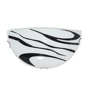 Светильник настенный/бра Дюна Сахара 1/2, 1х60W, E27, полукруглый, белый/глянец/хром