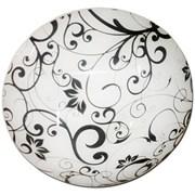 Светильник настенный/бра Дюна Цветы 77, 1х60W, E27, круглый, белый/глянец/хром