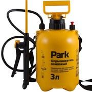 Опрыскиватель-распылитель садовый Park 990026, 3л, фибергласс удочка 84см, помповый, регулируемый ремень, желтый