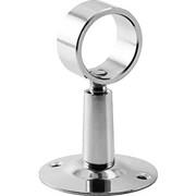 Крепление для полотенцесушителя, 3/4дюйма (20мм), телескопическое, с кольцом, нержавеющая сталь, хром