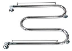 Полотенцесушитель М1 600x500мм, труба 32мм, змеевик, водяной, с полкой, нержавеющая сталь, хром