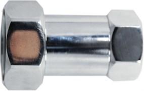 Соединение для полотенцесушителя разъемное, прямое, 3/4дюйм (20мм), внутренняя резьба, латунь, хром