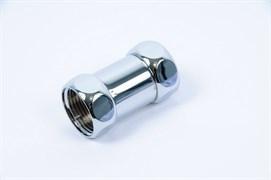 Соединение Frap для полотенцесушителя разъемное, прямое, 3/4дюйм (20мм), внутренняя резьба, латунь, хром