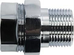 Соединение для полотенцесушителя разъемное, прямое, 3/4дюйм (20мм), внутренняя/наружная резьба, латунь, хром
