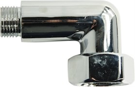 Соединение для полотенцесушителя разъемное, угловое, 1х1/2дюйма (25х15мм), внутренняя/наружная резьба, латунь, хром
