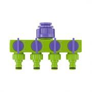 Распределитель PALISAD, четырехканальный, 1/2-3/4дюйма, регулируемый, АБС пластик