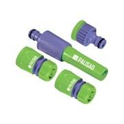 Набор PALISAD для подключения поливочного шланга 1/2дюйма: пистолет, 3 адаптера к распылителю, АБС пластик