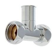Вентиль прямой для полотенцесушителя, 1x3/4дюйм, накидные гайки, хром