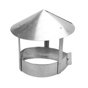Флюгарка (зонт, дымник, колпак) вентиляционная круглая, диаметр 130мм, оцинкованная