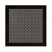 Решетка (экран) радиаторная ХДФ, 600x600мм, Сусанна, врезная, венге