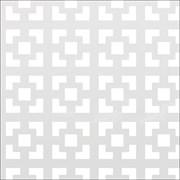 Лист (панель) перфорированный ХДФ, 600x1200мм, Дамаско, белый