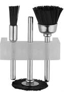 Щетка-крацовка STAYER нейлоновая для чистки и полирования, гравировальная, набор 3шт