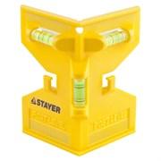 Уровень угловой (угольник) Stayer MASTER, 125x110мм, для двухплоскостных измерений, пластмассовый, с магнитом