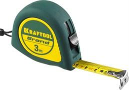 Рулетка KRAFTOOL GRAND, 3мx16мм, обрезиненный пластиковый корпус