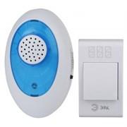 Звонок беспроводной ЭРА А01 аналоговый, 100м, 36 мелодий, 2хAA/A23, с кнопкой, IP20