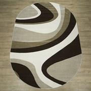 Ковер Фиеста 34111-36955, 60х110см, овальный, бежевый с рисунком
