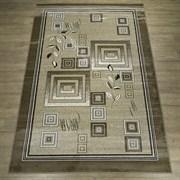 Ковер Круиз 22308-29655, 60х110см, овальный, бежево-коричневый с рисунком