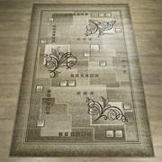 Ковер Круиз 22309-29626, 110х60см, прямоугольный, бежево-коричневый с рисунком