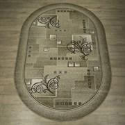 Ковер Круиз 22309-29626, 60х110см, овальный, бежево-коричневый с рисунком