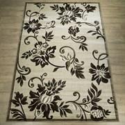 Ковер Круиз 22314-29626, 60х110см, прямоугольный, бежево-коричневый с рисунком